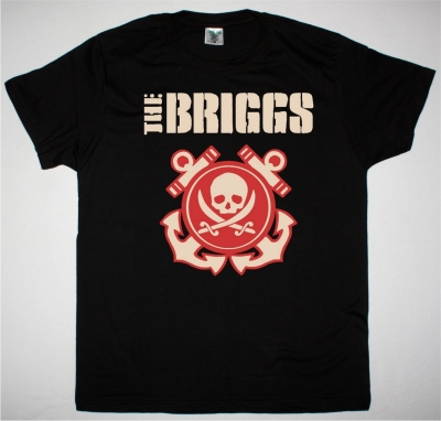THE BRIGGS SKULL & ANCHOR NEW BLACK T SHIRT
