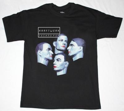 KRAFTWERK TECHNO POP'86  NEW BLACK T-SHIRT