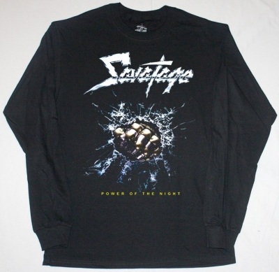 SAVATAGE POWER OF THE NIGHT'85  BLACK LONG SLEEVE T-SHIRT