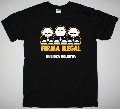 DUBIOZA KOLEKTIV FIRMA ILEGAL NEW BLACK T-SHIRT