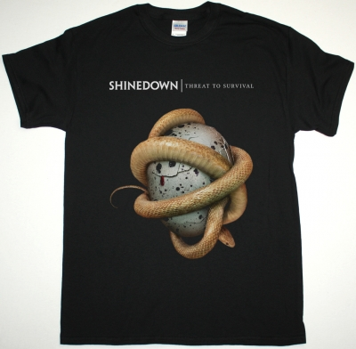 SHINEDOWN THREAT TO SURVIVAL NEW BLACK T SHIRT