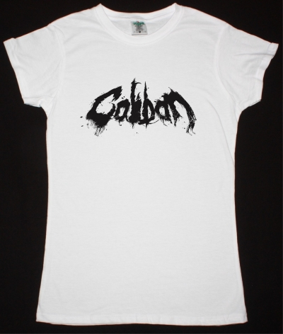 CALIBAN LOGO NEW WHITE LADY T-SHIRT