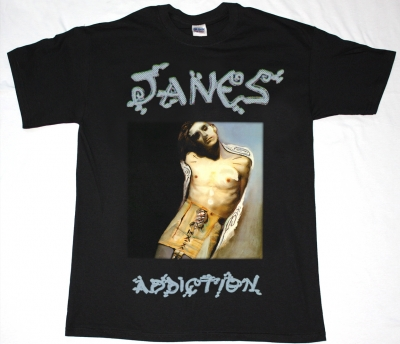 JANE'S ADDICTION PERRY FARRELL NEW  BLACK T-SHIRT
