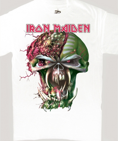 IRON MAIDEN HEAD EUROPEAN TOUR 2011 NEW WHITE T-SHIRT