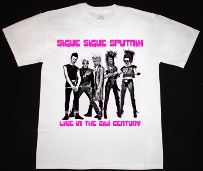 SIGUE SIGUE SPUTNIK 21ST CENTURY NEW WHITE T-SHIRT