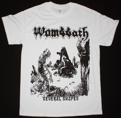 WOMBBATH SEVERAL SHAPES NEW WHITE T-SHIRT