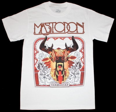MASTODON THE HUNTER NEW WHITE T-SHIRT