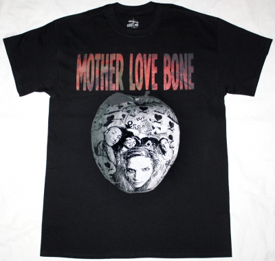 MOTHER LOVE BONE APPLE 2 1990  NEW BLACK T-SHIRT