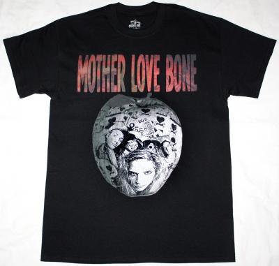 MOTHER LOVE BONE APPLE 2 1990  NEW BLACK T-SHIRT