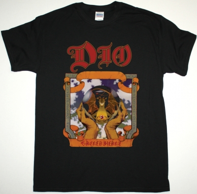 DIO SACRED HEART  NEW BLACK T-SHIRT