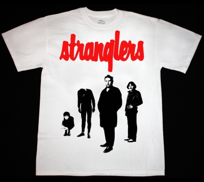 THE STRANGLERS BLACK AND WHITE  NEW WHITE T-SHIRT