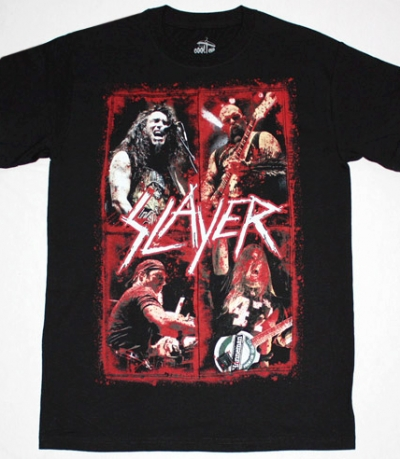 SLAYER BAND IN BLOOD NEW BLACK T-SHIRT