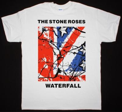 THE STONE ROSES WATERFALL NEW WHITE T-SHIRT
