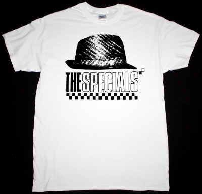 THE SPECIALS HAT NEW WHITE T-SHIRT