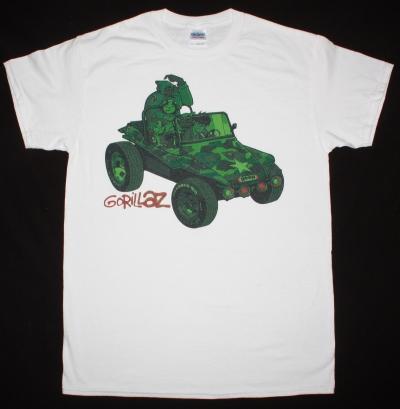 GORILLAZ GORILLAZ 2001 NEW WHITE T-SHIRT
