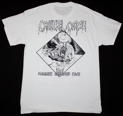 CANNIBAL CORPSE HAMMER SMASHED FACE 93 NEW WHITE T-SHIRT