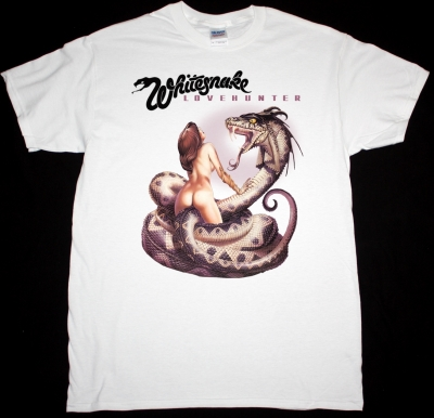 WHITESNAKE LOVEHUNTER 1979 NEW WHITE T-SHIRT