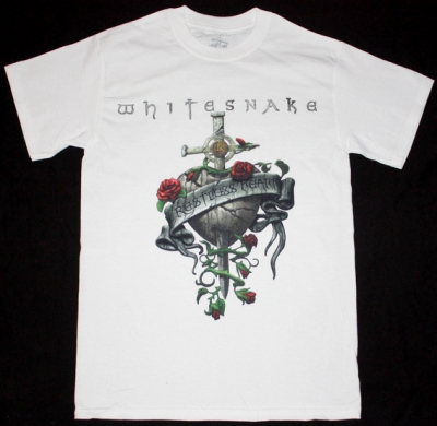 WHITESNAKE RESTLESS HEART'97 NEW WHITE T-SHIRT