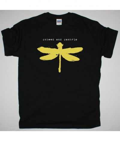 COHEED AND CAMBRIA DRAGONFLY NEW BLACK T SHIRT