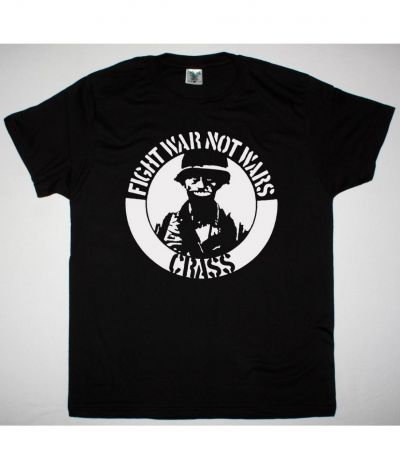 CRASS FIGHT WAR NOT WARS NEW BLACK T SHIRT
