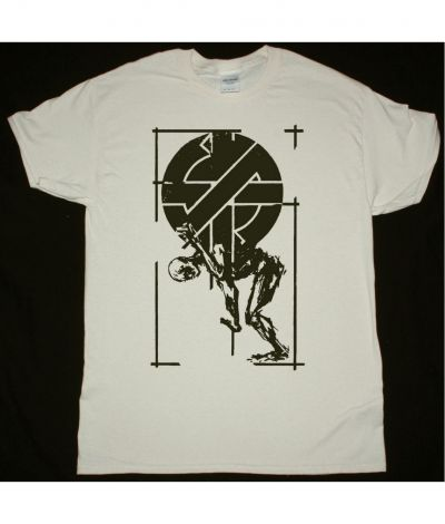 CRASS LOGO AND MAN NEW NATURAL T SHIRT