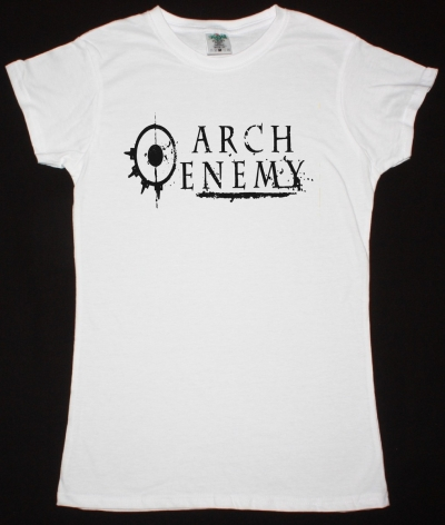 ARCH ENEMY LOGO NEW WHITE LADY T-SHIRT