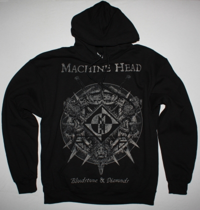 MACHINE HEAD BLOODSTONE AND DIAMONDS NEW BLACK HOODIE
