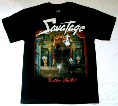 SAVATAGE GUTTER BALLET NEW BLACK T-SHIRT