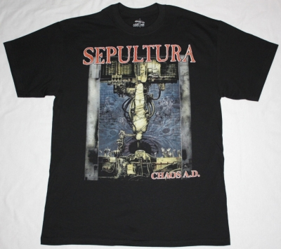 SEPULTURA CHAOS A.D. NEW BLACK T-SHIRT