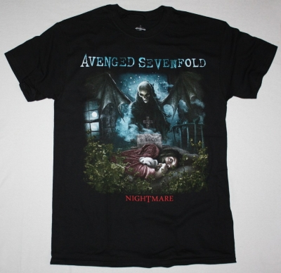 AVENGED SEVENFOLD NIGHTMARE NEW  BLACK T-SHIRT