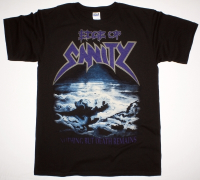 EDGE OF SANITY NOTHING BUT DEATH REMAINS 91 NEW BLACK T-SHIRT