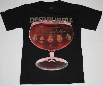 DEEP PURPLE COME TASTE THE BAND'75 NEW BLACK T-SHIRT