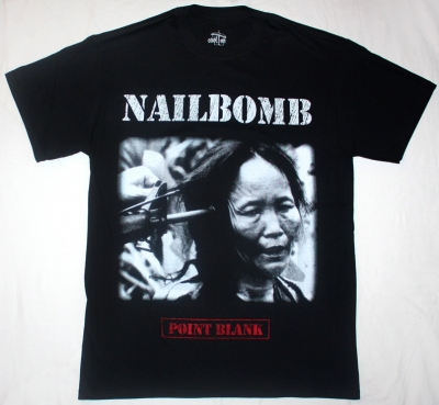 NAILBOMB POINT BLANK'94 NEW BLACK T-SHIRT