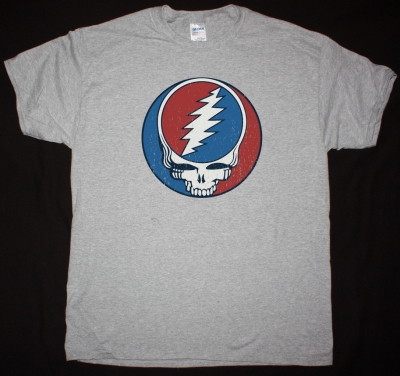 GRATEFUL DEAD VINTAGE LOGO NEW SPORTS GREY T SHIRT