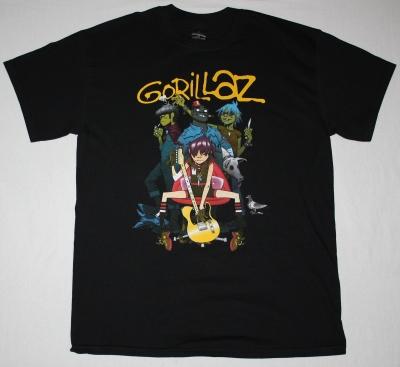 GORILLAZ BAND NEW BLACK T-SHIRT