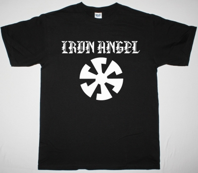IRON ANGEL SPEED METAL LOGO NEW BLACK T SHIRT
