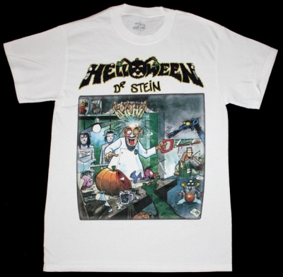 HELLOWEEN DR.STEIN'88 NEW WHITE T-SHIRT