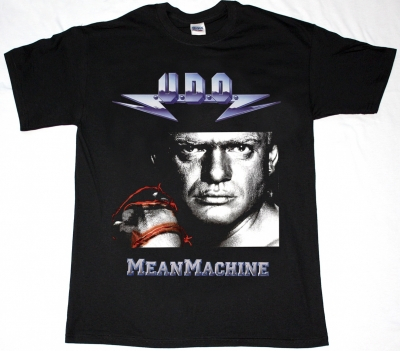 U.D.O. MEAN MACHINE'89 UDO NEW BLACK T-SHIRT
