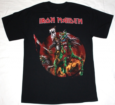 IRON MAIDEN THE HORSEMAN NEW BLACK T-SHIRT