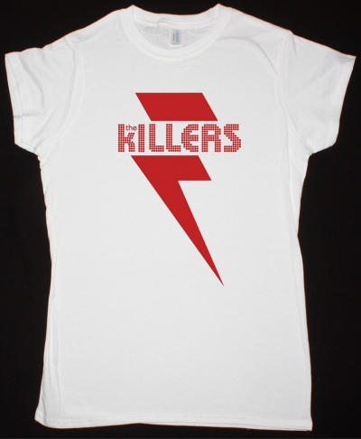 THE KILLERS RED BOLT  WHITE  LADY T SHIRT