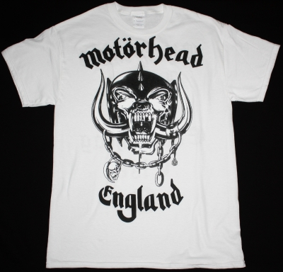 MOTORHEAD ENGLAND 2 NEW WHITE T-SHIRT