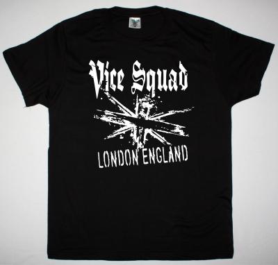 VICE SQUAD LONDON ENGLAND NEW BLACK T-SHIRT