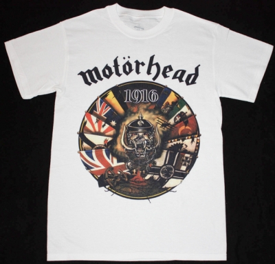 MOTORHEAD 1916 NEW WHITE T-SHIRT