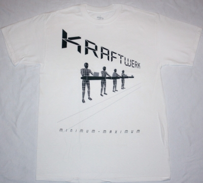 KRAFTWERK MINIMUM MAXIMUM NEW WHITE T-SHIRT