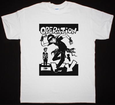 OPERATION IVY MEN'S SKANKIN NEW WHITE T-SHIRT