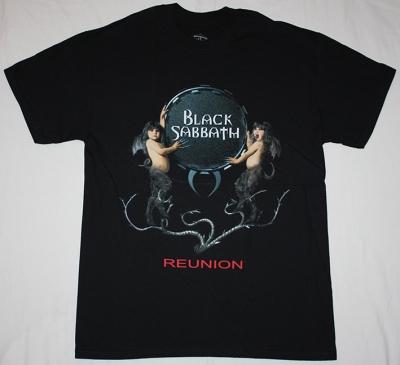 BLACK SABBATH 1998 REUNION NEW BLACK T-SHIRT