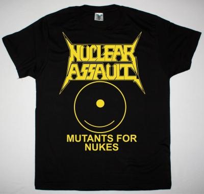 NUCLEAR ASSAULT MUTANTS FOR NUKES NEW BLACK T SHIRT