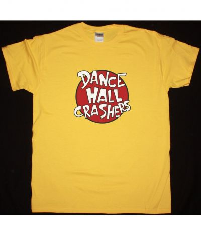 DANCE HALL CRASHERS LOGO NEW YELLOW T SHIRT