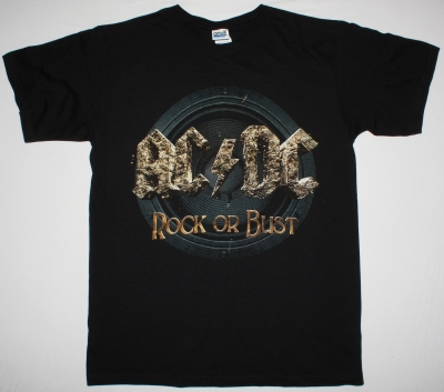 AC DC ROCK OR BUST 2014 AC/DC NEW BLACK T-SHIRT