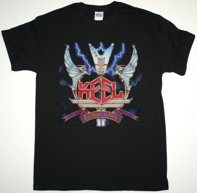 KEEL THE RIGHT TO ROCK NEW BLACK T-SHIRT